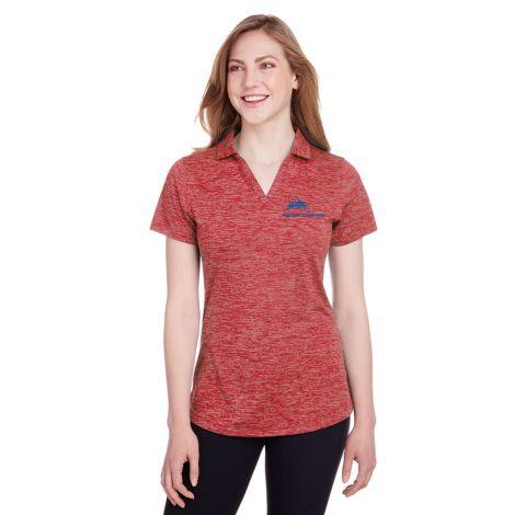 Puma Golf Ladies' Icon Heather Polo-high risk red-X-Small