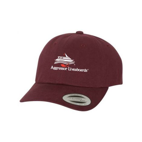 Peached Twill Cap-maroon-One Size