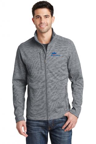 Digi Stripe Fleece Jacket-grey-X-Small