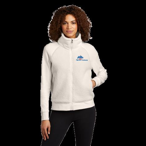 OGIO® Ladies Luuma Sherpa Full-Zip-ivory snow-X-Small