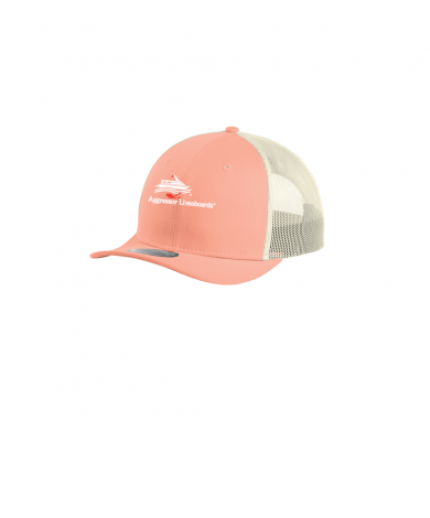 New Era® Snapback Low Profile Trucker Cap-coral ivory-One Size